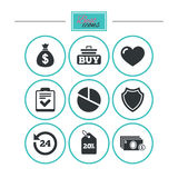 Online shopping, e-commerce and business icons. Stock Photo