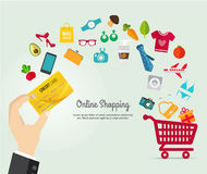 Online shopping e-commerce concept. Stock Photography