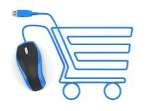 Online shopping E-commerce concept royalty free stock photography