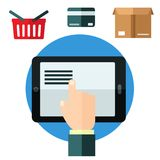 Online shopping or e-commerce concept Royalty Free Stock Images
