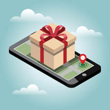 Online shopping and e-commerce concept. Online mobile shop store sale delivery shopping concept Royalty Free Stock Image