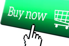 Online shopping and e commerce concept. royalty free stock images