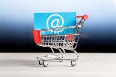 Online shopping, e commerce and internet store concept. stock photo