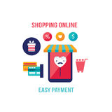 Online shopping e-commerce Mobile payment Successful business concept Stock Image