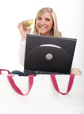 Online shopping emotions Royalty Free Stock Photos