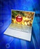 online-shopping för jul e royaltyfri fotografi
