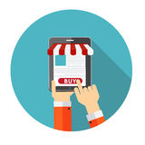 Online Shopping Flat Concept for Mobile Apps Royalty Free Stock Photo