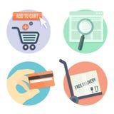 Online shopping Stock Image