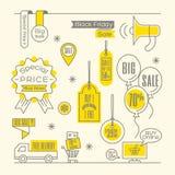 Online-shopping för Sale etikettsetikett Arkivfoton
