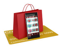 Online shopping and gifts Stock Photography