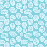 Online shopping goods icons retail seamless pattern e-commerce online store background vector illustration. Stock Images