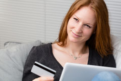 Online Shopping at Home Stock Photos