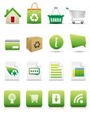 Online Shopping Icon Set - Natural Concep Royalty Free Stock Photos