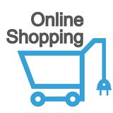 Online shopping icon, web shopping, online shop label, sale logo, store in a laptop, online store sign on white background, sale. Icon, vector artwork Stock Illustration