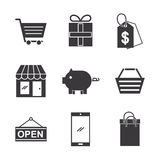Online shopping icons set Royalty Free Stock Image