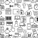 Online shopping icons set. Icon vector illustration design graphic isolated Stock Photo