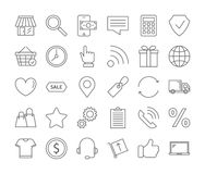 Online shopping icons set. Royalty Free Stock Images