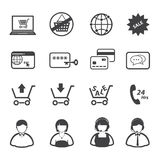 Online shopping icons set, Royalty Free Stock Photography