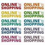 Online Shopping icons set. Vector icon Royalty Free Stock Photo