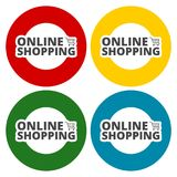 Online Shopping icons set. Vector icon Stock Photography