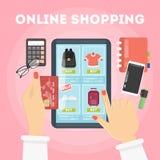 Online shopping illustration. royalty free illustration