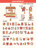 Online shopping infographic elements for kid Royalty Free Stock Photos