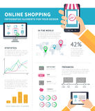Online Shopping infographic Stock Photos