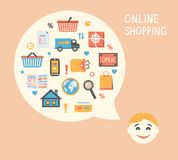 Online shopping innovation idea Royalty Free Stock Photo