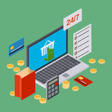 Online shopping, internet trade vector concept Royalty Free Stock Image