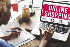 Online Shopping Internet Website E-Commerce Concept Royalty Free Stock Image