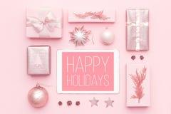 Online-shopping, julSale begrepp Försäljning för boxningdag royaltyfria bilder