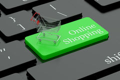Online shopping keyboard button Stock Image