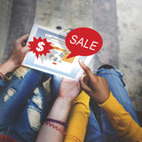 Online Shopping Marketing Sale Promotion Concept royalty free stock photography