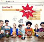 Online Shopping Marketing Sale Promotion Concept stock photos