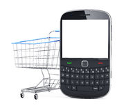 Online Shopping for Mobile Phone Royalty Free Stock Photos