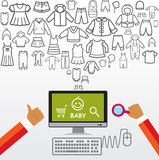 Online shopping and modern technology. Stock Image