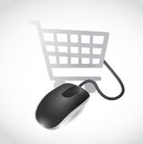 Online shopping mouse concept illustration design Stock Images