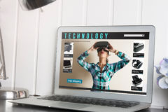 Online shopping: online store, sale of virtual reality products Stock Images