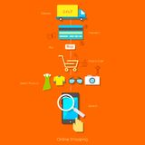 Online Shopping Pictogram Royalty Free Stock Images
