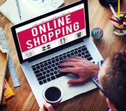 Online Shopping Purchasing Commercial Electronic Concept.  Royalty Free Stock Image