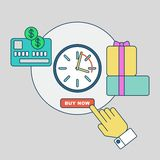 Online shopping rapid order processing Stock Photos