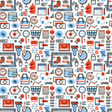 Online shopping and retail business icons vector illustration