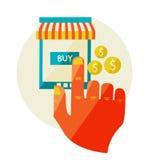 Online shopping. Sale. Flat design modern illustration Stock Images