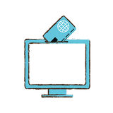 Online shopping screen computer Stock Photography