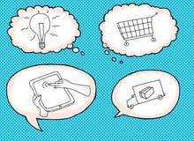 Online Shopping Symbols Stock Photos
