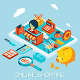 Online shopping on tablet computer Stock Image