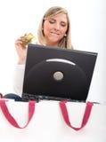 Online shopping temptation Stock Image