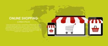 Online Shopping Vector Illustration. Flat Stock Image