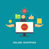 Online shopping vector Royalty Free Stock Photos