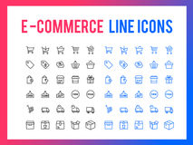 Online shopping vector line icon - app and mobile web responsive. Online shopping vector line icon for app and mobile website responsive Stock Image
